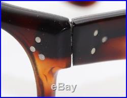 Vintage MID Century France Demi Amber Horn Rim Eyeglass Buddy Holly Faosa Style