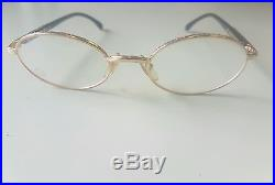 Vintage MONT BLANC Meisterstuck Eyeglasses Frame GOLD/BLACK Mod. 31284 Authentic