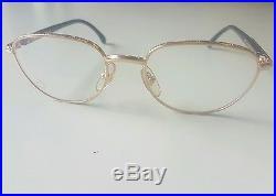 Vintage MONT BLANC Meisterstuck Eyeglasses Frame GOLD/BLACK Mod. 33748 Authentic
