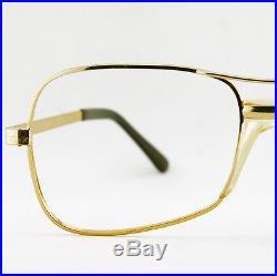 Vintage Mens Gold Wire Aviator Eyeglass Cottet Frames France Eyewear