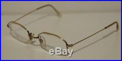 Vintage Morel 14K GF Octagonal Gold Prescription Eyeglasses Made in France