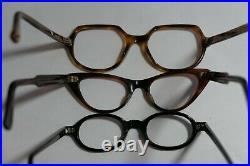 Vintage NEW OLD STOCK 60s CAT EYE Eyeglasses Frame France lot (6)