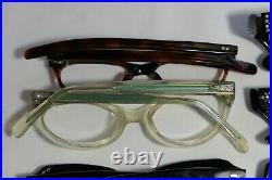 Vintage NEW OLD STOCK 60s CAT EYE & Horn Rim Eyeglasses Frame France lot (12)