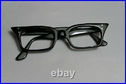 Vintage NEW OLD STOCK 60s Cat Eye Eyeglasses Rectangle Frame France 46-22-140
