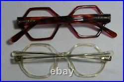 Vintage NEW OLD STOCK 60s GEOMETRIC Hexagon Eyeglasses Frame France lot (6)