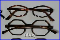 Vintage NEW OLD STOCK 60s Geometric Hexagon Eyeglasses Frame France lot (12)