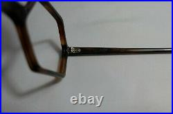 Vintage NEW OLD STOCK 60s Geometric Tortoise Eyeglasses Frame France 48-18-140