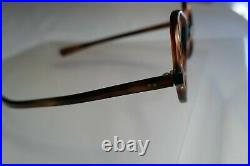 Vintage NOS 60s A. S. Tortoise Round Eyeglass Panto Frames France 46/21
