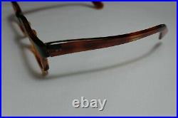 Vintage NOS 60s Eyeglass Rectangle FRAME FRANCE 8525 Horn Rim 44-22-147 THICK