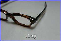 Vintage NOS 60s Eyeglass Rectangle FRAME FRANCE Horn Rim 48-22-145 THICK