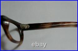 Vintage NOS 60s Eyeglasses Frame France Horn Rectangle KATAY 44-20-140 Tortoise