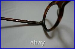 Vintage NOS 60s Eyeglasses ROUND Frame France 42-22-140 Tortoise