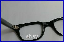 Vintage NOS 60s Horn Rim Frame France Eyeglass 50-22-155 THICK