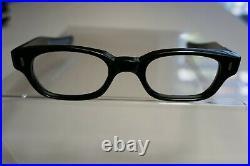 Vintage NOS 60s Horn Rim Frames Eyeglasses FRAME FRANCE 46-22-145 THICK