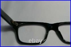 Vintage NOS 60s Horn Rim Frames Eyeglasses FRAME FRANCE 52-22-145 THICK