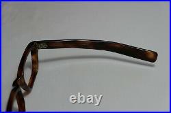Vintage NOS 60s Horn SWANK FRAME FRANCE MISTER ED Eyeglasses 46-21-145 THICK
