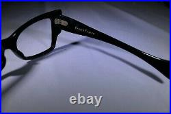 Vintage NOS Black Horn Rim Rimmed Rockabilly Nerd 1960s Frames FRAME FRANCE