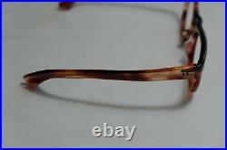 Vintage NOS Frames France 8525 Eyeglasses Horn Rim Tortoise 46-22-140