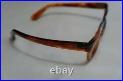 Vintage NOS Frames France 8525 Eyeglasses Horn Rim Tortoise 46-22-150