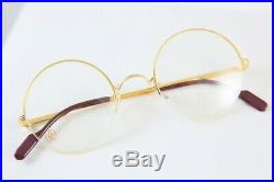 Vintage New Cartier Mayfair Gold Plated Lunettes Eyeglasses Made In France