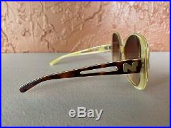 Vintage Nina Ricci Sunglasses LARGE Handmade France 1044 Classic N Logo