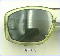Vintage Norma Kamali K608 Light Green Transparent Oval Eyeglasses Frames France
