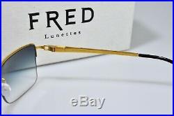 Vintage Occhiali Da Sole Fred Jamaique Sunglasses Eyeglasses Lunette Frame Gold