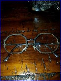 Vintage Octagonal Eyeglasses Frames France 20/0000 14K Gold 50/18 Octagon Gold