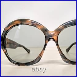Vintage Oversized Huge Butterfly Sunglasses Eyeglasses Thick Frame France 60s
