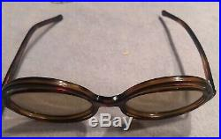 Vintage Pair Sunglasses 1970S Double Circle Tortoiseshell Handmade France Estate