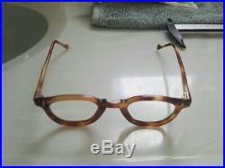 Vintage Panto 1950 French France Eye Glasses Brown Lunettes Eyeglasses 2