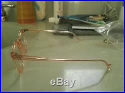 Vintage Panto 1950 French France Eye Glasses Pink Lunettes Eyeglasses 4