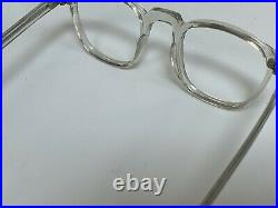 Vintage Panto 1950s French Eyeglasses crystal clear Lunettes 40-20