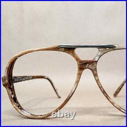 Vintage Ralph Lauren Polo 5-2 Aviator Sunglasses Eyeglasses Frame France 70s NOS