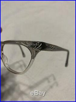 Vintage Rare Louis Evrard France TWE Cat Eye Sunglasses Eyeglasses Frames
