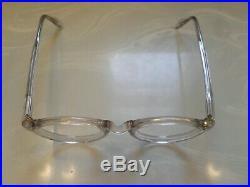 Vintage Round Panto 1950 French France Eye Glasses Clear Lunettes Eyeglasses 12