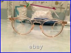 Vintage Round Panto 1950 French France Eye Glasses Pink Lunettes Eyeglasses 5