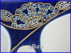 Vintage STENDHAL Paris Venezia S13 558 Tortoise Navy Blue Rhinestone Eyeglasses