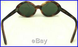 Vintage S. S. Frolic Tortoise Brown Rhombus Horn-Rimmed Eyeglasses Frames France