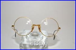 Vintage Selecta Eyeglasses Round 4820 France Gold Tone