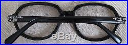 Vintage Sonia Black frame eye wear with rhinestones on temple and top France