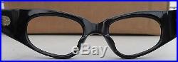 Vintage Swank 44x20 Blue Plastic Exotic Eyewear frame France Cat Eye Detailed