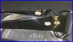 Vintage Swank France Eyeglass Frame Lot 3 Cats Eye Rhinestone 2 Black 1 MOP