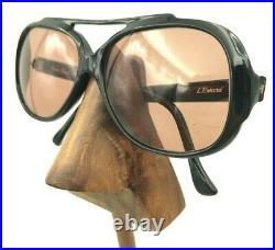 Vintage TWE L. Erard Black Oval Aviator Eyeglasses Sunglasses Frames France