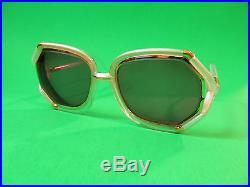 Vintage Ted Lapidus Paris France Ladies Glasses TL 10 45 Pearl White / Gold