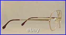 Vintage Yves Saint Laurent 8806 aviator eyeglasses/sunglasses frame France 1980s