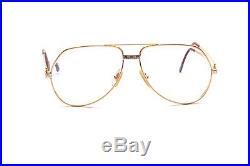 Vintage aviator eyeglasses Cartier Vendome Santos bicolor pre owned #EG24