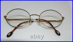 Vintage gold filled 14KGF eyeglasses frames Morel France Double Or Laminé 5851