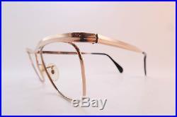 Vintage gold filled eyeglasses frames ALGHA 1/10 12K GF England 50-22 KILLER