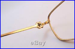 Vintage gold filled eyeglasses frames Cartier Paris 56-20. 140 men's M France